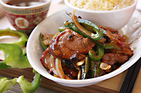 豉椒 叉燒Char Siu Green Peppers in Black Bean Sauce