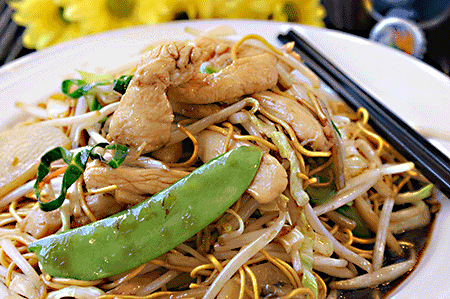 雞炒麵 Chicken Chow Mein