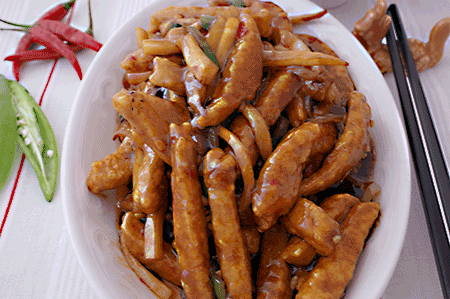 干炒雞絲 Deep Fried Shredded Chicken in Chilli Sauce